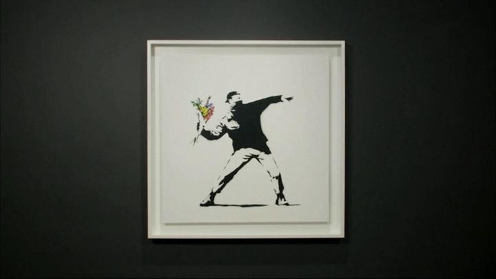 Картину Бэнкси продали за 12 миллионов долларов