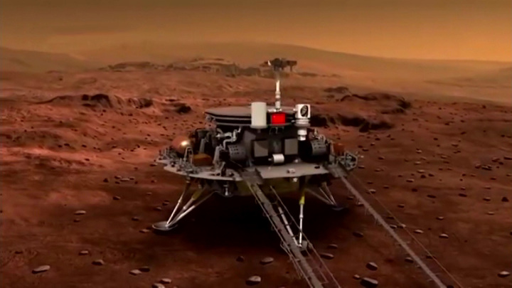 "Китайский марсоход ""Чжучжун"" совершил посадку на Марсе"