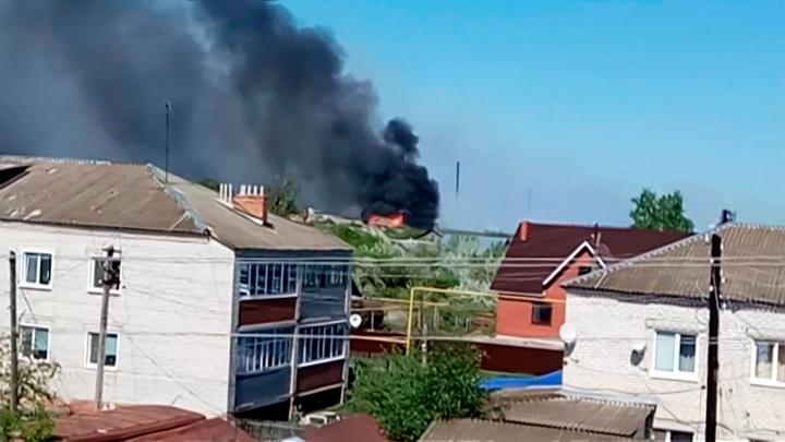 Пожар в Ульяновской области спровоцировал взрывы