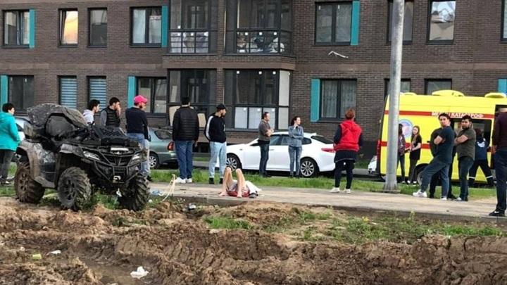 Перевернувшийся квадроцикл убил водителя в Мытищах