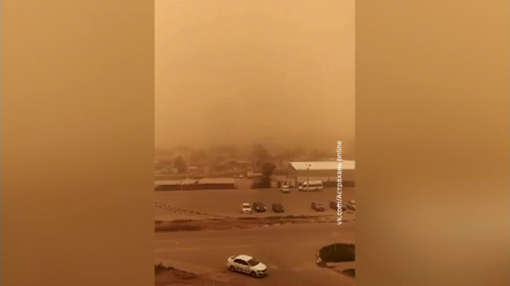 Новая пыльная буря движется в сторону Астрахани