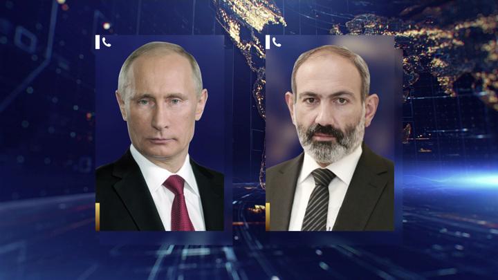 Путин и Пашинян обсудили ситуацию вокруг Нагорного Карабаха