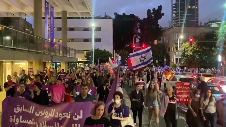 """Акция против """"зелёного паспорта"""" прошла в Тель-Авиве"""