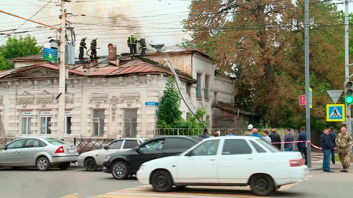 В Тамбове восстановят территорию сгоревшего дома на Советской