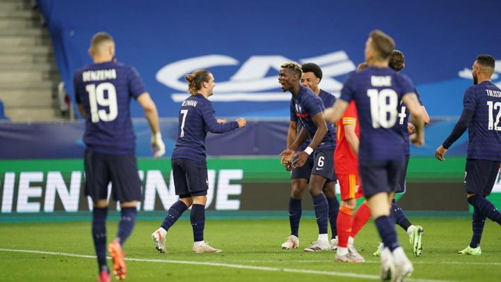Французские футболисты разгромили Уэльс в товарищеском матче