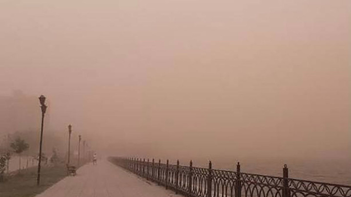 Астраханскую область накрыла пыльная буря