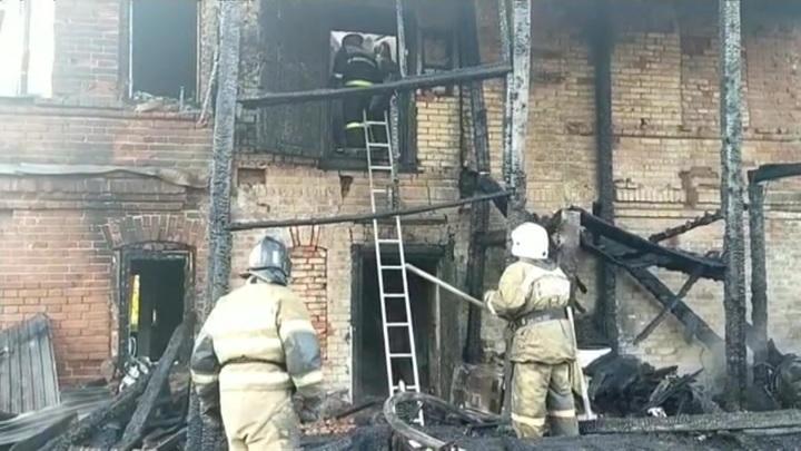 На пожаре в Перми погибли дети