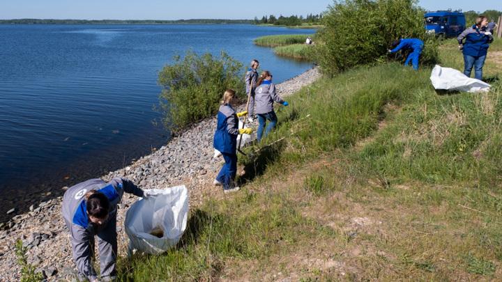 Более 5 тонн мусора убрали атомщики с береговой линии Удомельского водохранилища