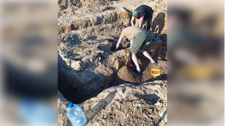 Под Питером на стройплощадке раскопали советский танк