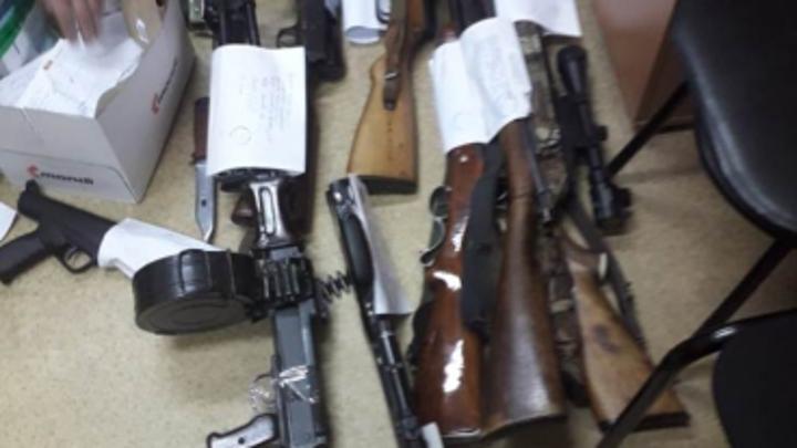 В Нижегородской области у пенсионера изъяли запас оружия