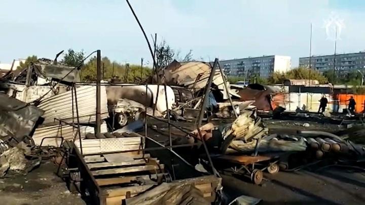 Уничтоженную взрывом заправку сняли на видео