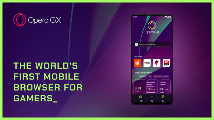 Opera выпустила первый мобильный браузер для геймеров