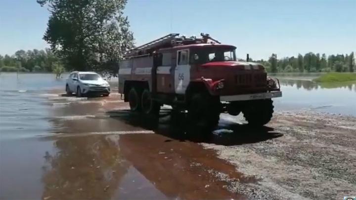 Мощный ливень затопил Красноярск