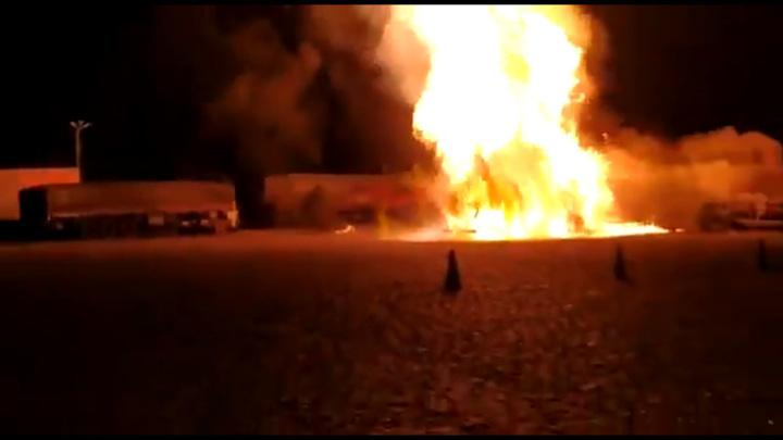 На заправочной станции в Бразилии взорвался бензовоз