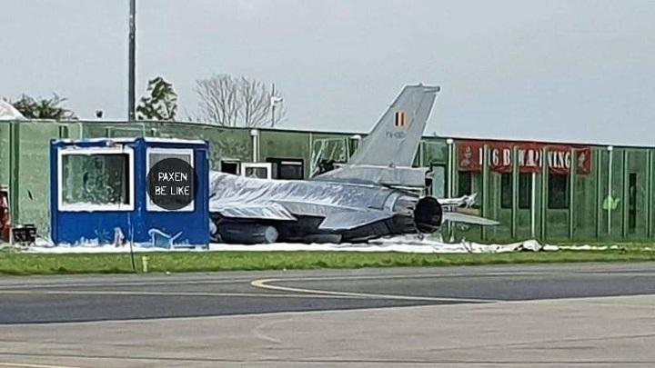 Бельгийский F-16 врезался в здание на авиабазе в Нидерландах