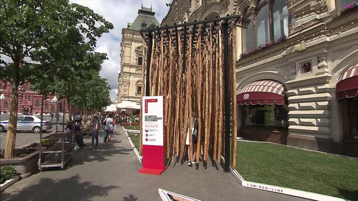 Выставка современной скульптуры разместилась в Москве на Красной площади