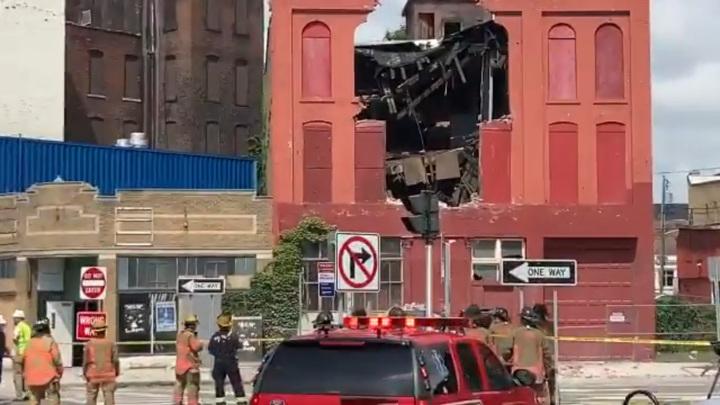 В штате Нью-Йорк частично обрушилось трехэтажное здание