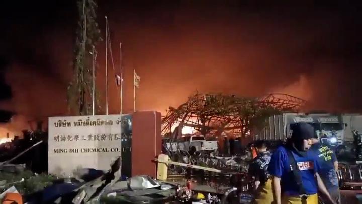 Мощный взрыв произошел на химзаводе в пригороде Бангкока