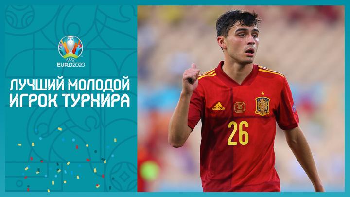 Испанец Педри признан лучшим молодым футболистом Евро-2020