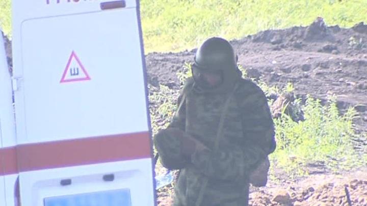 В Железногорске обнаружили боевой снаряд