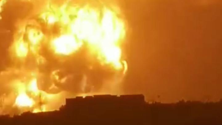 Мощный взрыв произошел на китайском заводе