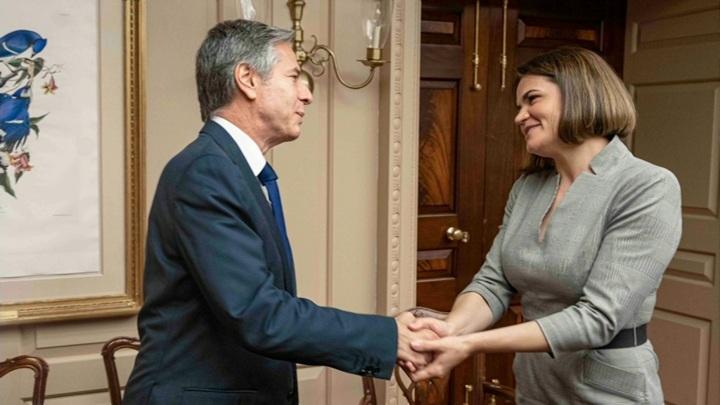 США пообещали Тихановской поддержку