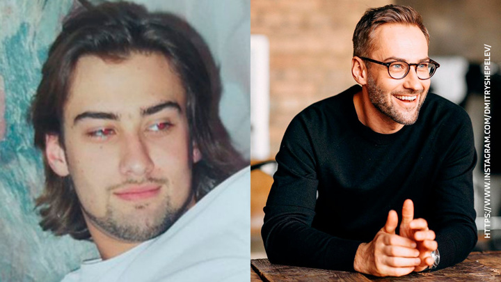 Дмитрий Шепелев показал свое архивное фото с длинными волосами