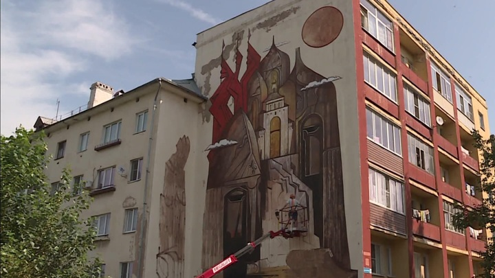 Граффити в стиле древней живописипоявится на стене одного из домов Владимира