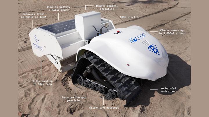 Робот BeBot умеет просеивать пляжный песок.