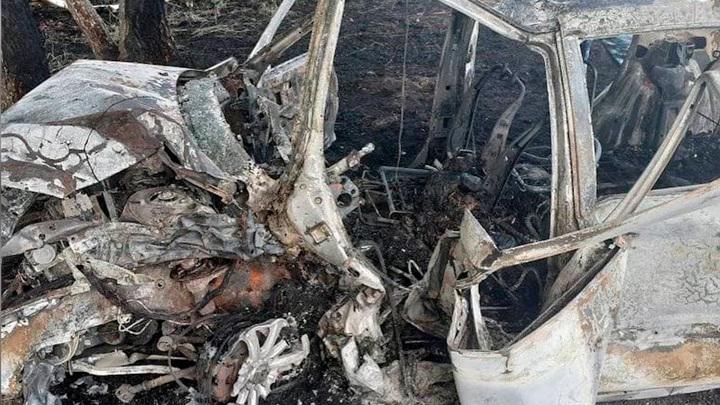 Заживо сгорел: в Башкирии 61-летний водитель погиб в аварии