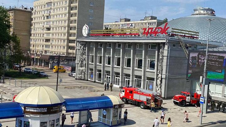 Купол недавно открытого цирка вспыхнул в Саратове