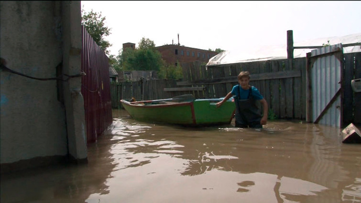 Уровень воды в Амуре у берегов Хабаровска продолжает подниматься