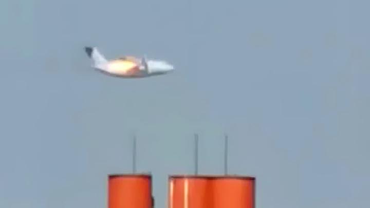 Горящий Ил-112В шел на посадку, но свалился в штопор