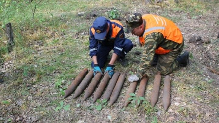 """Наследие """"Катюши"""": в Липецкой области взрывники уничтожили 10 снарядов"""