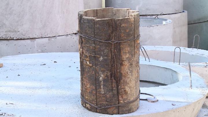 В Екатеринбурге нашли старинный трубопровод из дерева