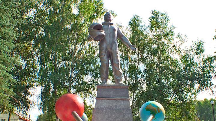 В Воротынске появился памятник Гагарину