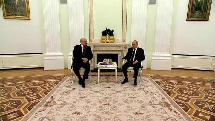 В Кремле завершились переговоры Путина и Лукашенко