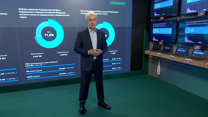 Мэр Москвы проголосовал со смартфона