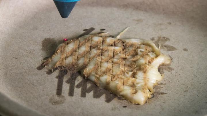 Лазер может нагревать мясо как изнутри, так и на поверхности, придавая ему аппетитный вид.
