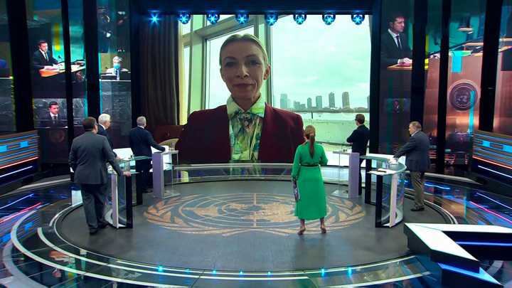 Захарова о речи Зеленского в ООН: не уверена, что президент понимает суть своих слов