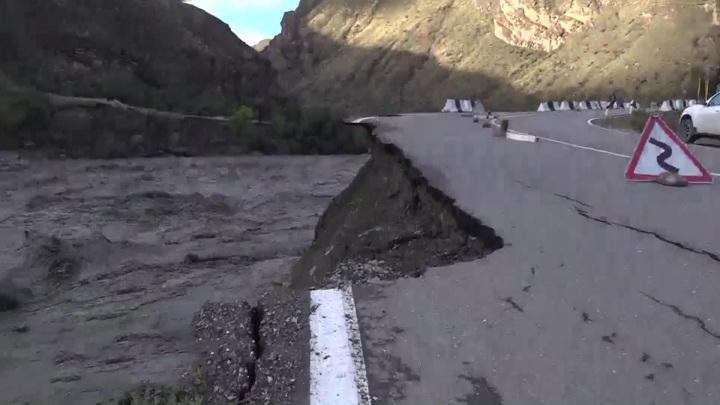 В Дагестане реки вышли из берегов