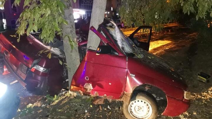 Житель Липецка на авто врезался в дерево
