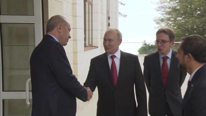 """Путин и Эрдоган обсудили энергетику, газ, безопасность и """"Спутник V"""""""