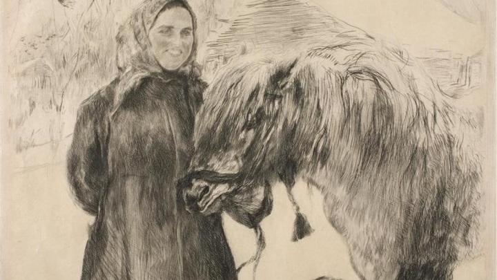 """В.А. Серов """"Баба с лошадью"""""""