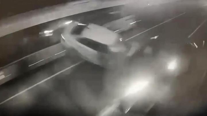 ДТП с Ксенией Собчак: момент аварии попал на видео