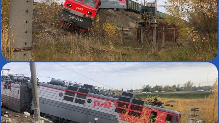 Под Ростовом-на-Дону с рельсов сошел грузовой поезд