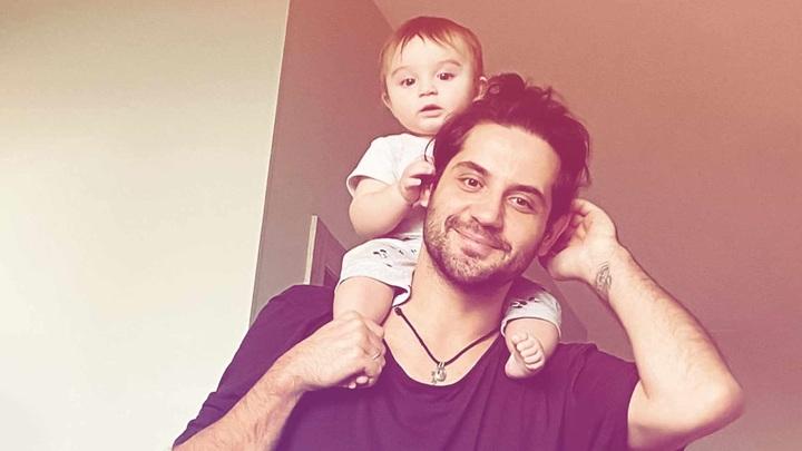 Марк Богатырев с сыном // instagram
