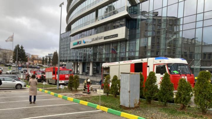 Центр международной торговли загорелся в Нижнем Новгороде