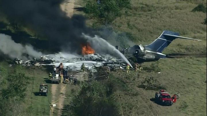 В США потерпел крушение самолет