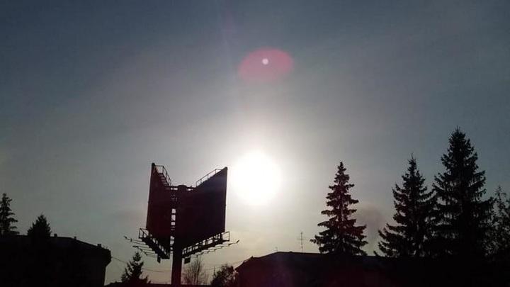 Солнечное гало три дня радовало новосибирцев